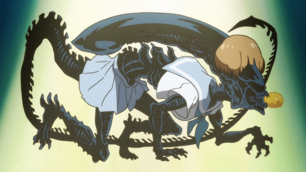 Mako As A Xenomorph Alien - Kill La Kill Easter Eggs