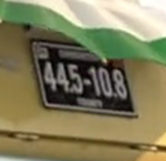 Luigi's License Plate (Close-Up)