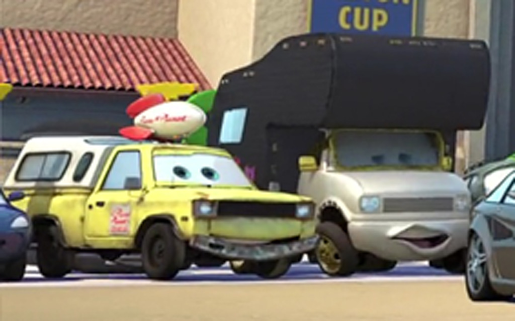 Pizza Planet Truck Cameo (Close-Up) - Cars Easter Eggs