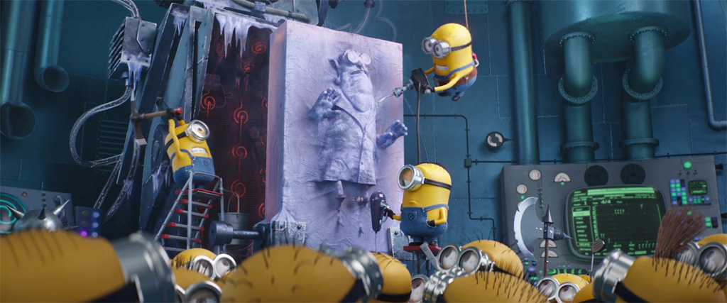 Dr. Nefario Frozen In Carbonite - Despicable Me 3 Easter Eggs