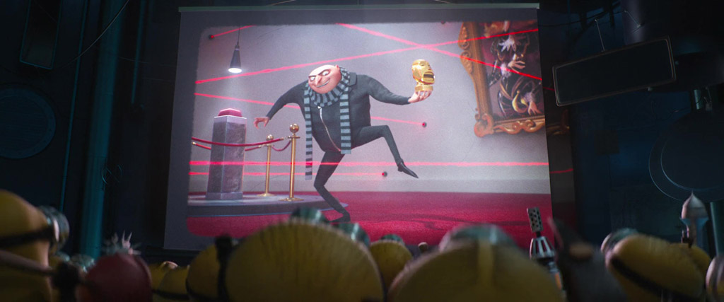 Gru Stealing The Golden Idol - Despicable Me 3 Easter Eggs