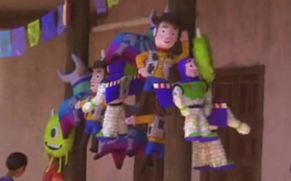 Woody, Buzz Lightyear and Mike Wazowski Pinatas (Close-Up) - Coco Easter Eggs