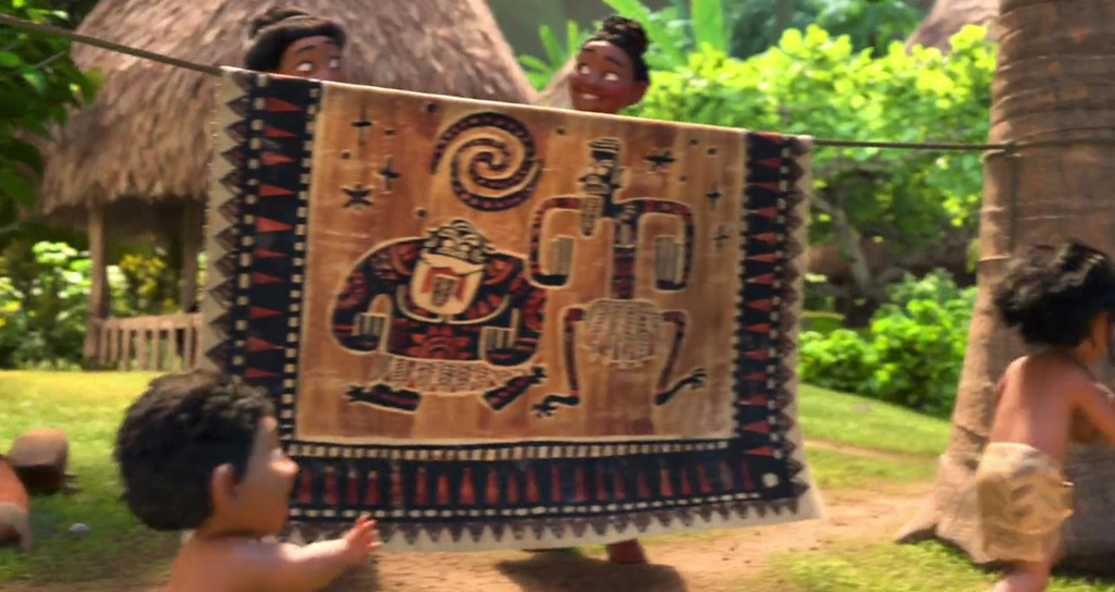Ron Clements and John Musker Tapestry - Moana Easter Eggs