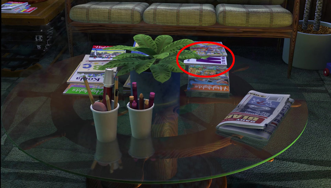 Monsters, Inc Reference - Finding Nemo Easter Eggs