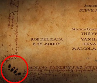 Naughty Marauders Map Credits