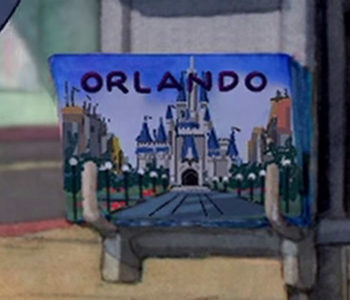 Disney World Postcard (Close Up)