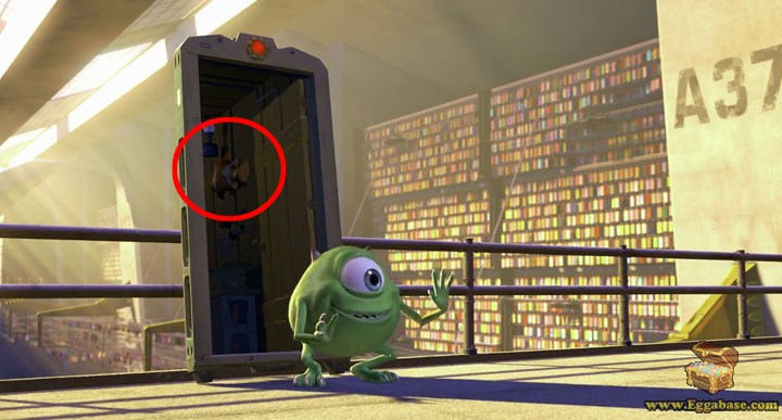 Finding Nemo Cameos - Monsters inc easter eggs