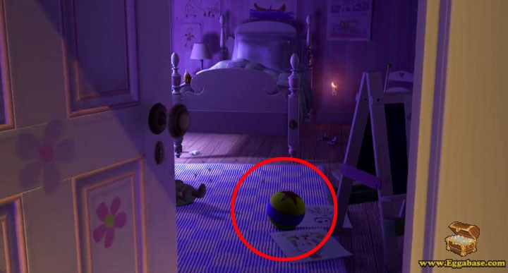 Luxo Ball - Monsters Inc easter egg