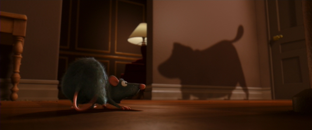 Dug's Shadow - Ratatouille Easter Eggs