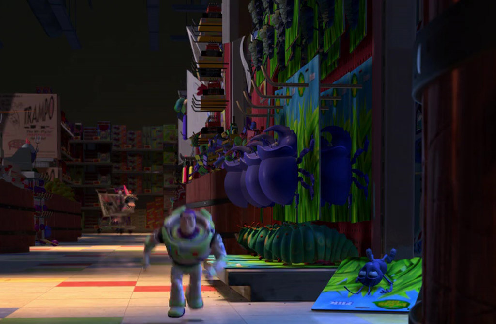 A Bugs Life Toys (Flik, Heimlich, Dim, Tuck and Roll) - Toy Story 2 Easter-Eggs