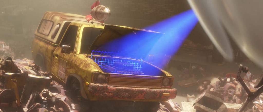 The Pizza Planet Truck - WALL-E Easter Eggs