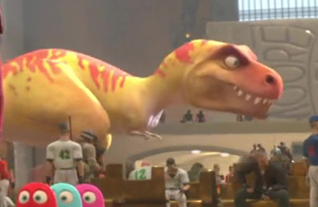 Tiny the T-Rex (Close-Up) - Wreck-It Ralph Easter Eggs