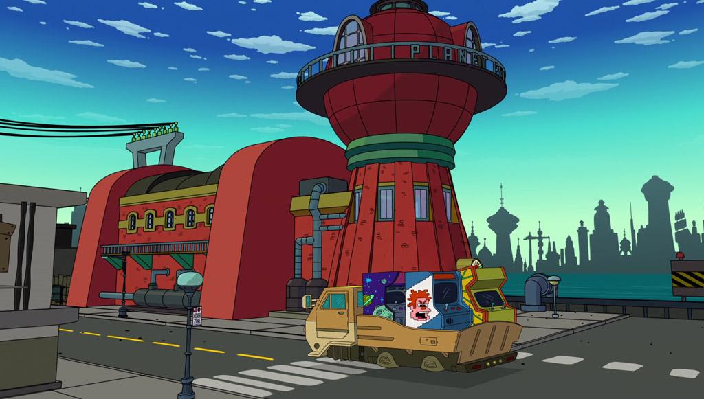 Wreck-It-Ralph Arcade Game - Futurama Easter Eggs