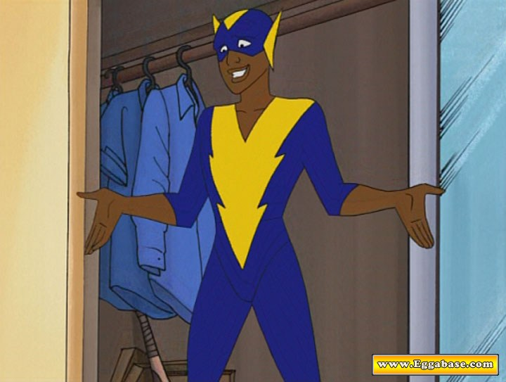 Black Vulcan Costume - Static Shock easter eggs