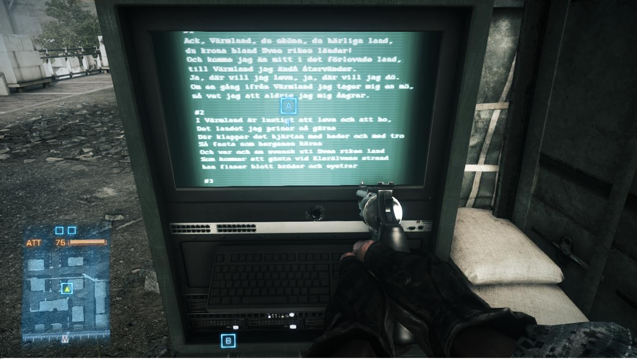 Folk Song Lyrics on M-Coms - Battlefield 3 Easter Eggs