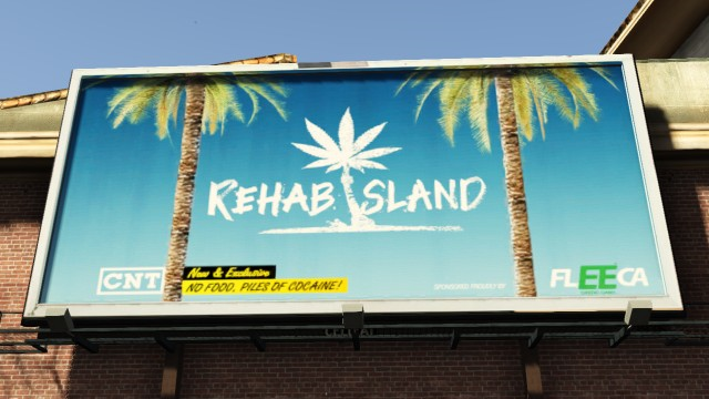 Rehab Island GTA V Easter Egg - Billboard