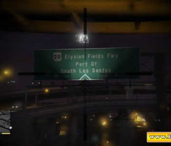 Elysian Fields Freeway Sign