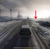 Frozen Alien Location From Road