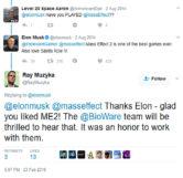 Elon Musk and Ray Muzyka Tweets