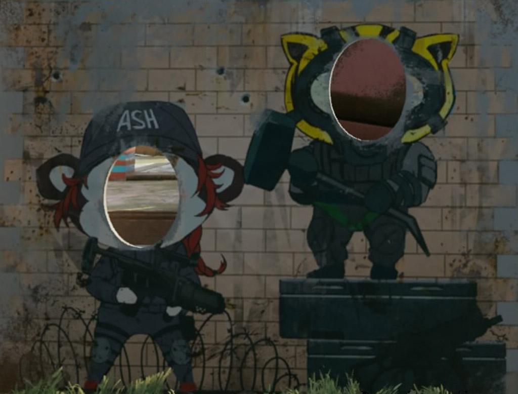 Sledge and Ash Faceboard - Rainbow Six Siege Easter Eggs