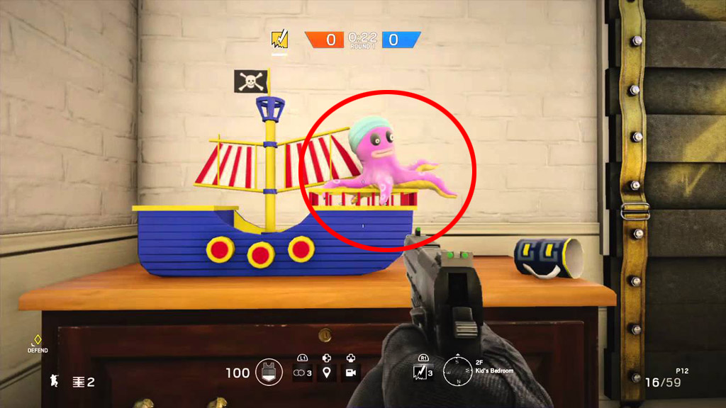 Growing Octopus Toy (Before) - Rainbow Six Siege Easter Eggs
