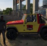 Jurassic Park Jeep (Left)