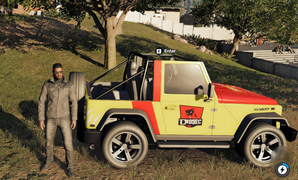 jurassic park jeep watch dogs 2 easter eggs eggabase. Black Bedroom Furniture Sets. Home Design Ideas