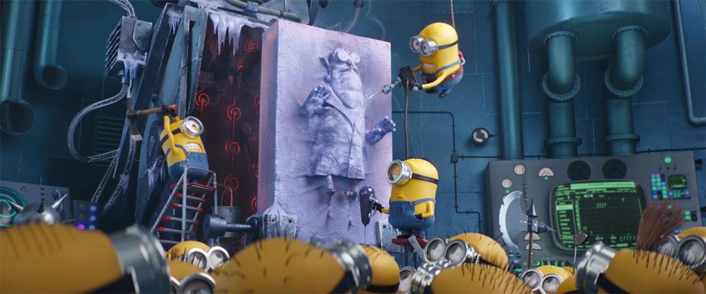 Dr. Nefario Frozen In Carbonite - Despicable Me 3 Easter Eggs