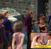 Rapunzel and Flynn in Frozen