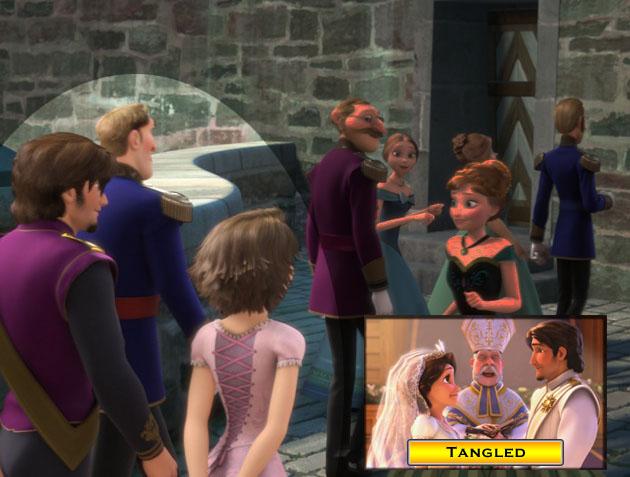 Rapunzel And Flynn Cameo Frozen 2013 Easter Eggs Eggabase
