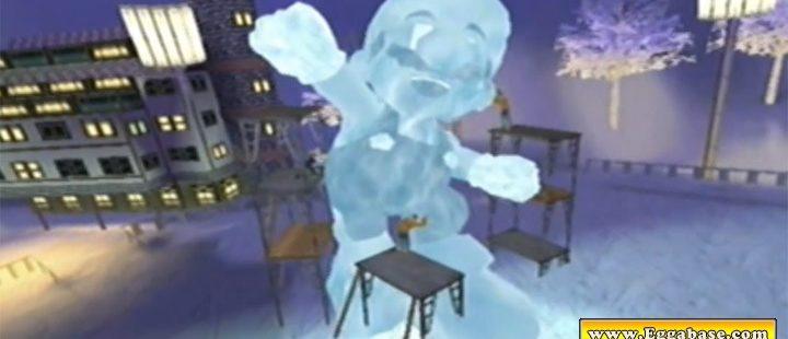 Mario Ice Statue