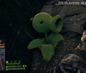 Plants vs Zombies Peashooter | Battlefield 4 Easter Eggs