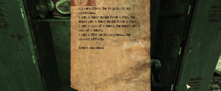Borat's Note
