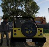 Jurassic Park Jeep (Back)